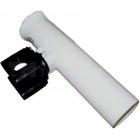 Держатель спиннинга на леер, 215х45 мм, белый пластмассовый
