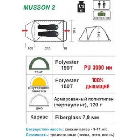 Палатка MUSSON-2